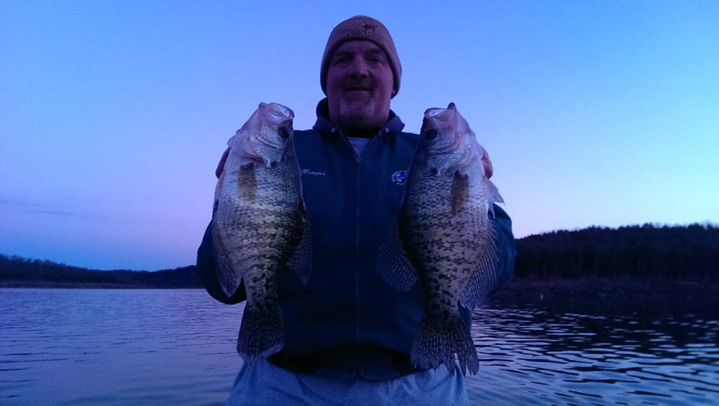Randy loves crappie fishing here